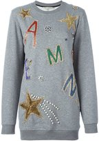 Amen embellished oversized sweatshirt - women - Cotton/Polyester - 38