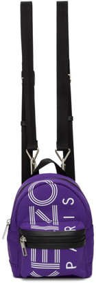 Kenzo Purple Mini Logo Backpack