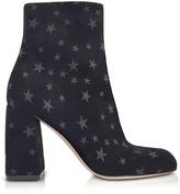 RED Valentino Black Stars Printed High Heel Bootie