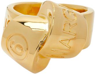 MM6 MAISON MARGIELA Gold Logo Knot Ring