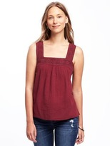 Old Navy Crochet-Yoke Swing Tank for Women