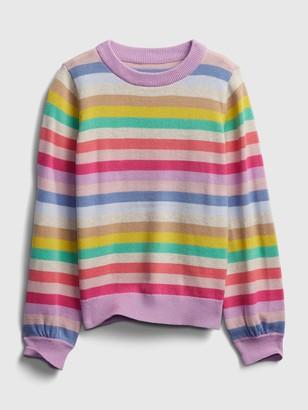 Gap Kids Happy Stripe Crewneck Sweater