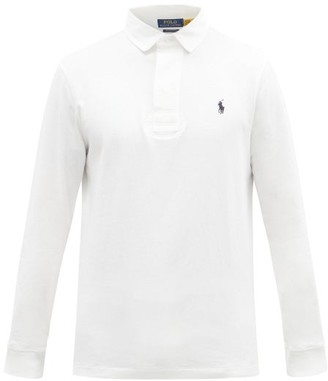 Polo Ralph Lauren Logo-embroidered Cotton-jersey Rugby Shirt - White