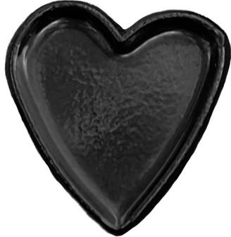 Make Heads Turn Enamel Pin Black Little Heart