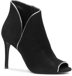 MICHAEL Michael Kors Women's Harper Metallic Trim High-Heel Booties