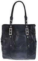 B. Makowsky As Is Leather North/ South Tote with Straps