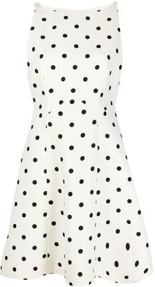 Valentino Polka Dot Skater-Style Dress