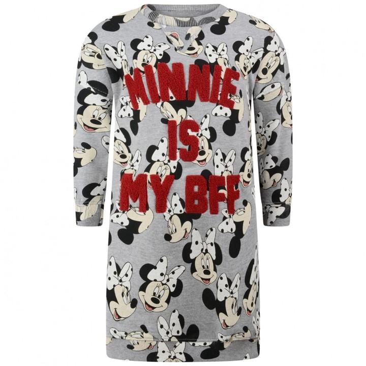 Grey Minnie Mouse Sweater Dress