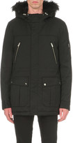 The Kooples Hooded shell parka coat