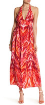 Amanda Uprichard Mercer Halter Silk Maxi Dress