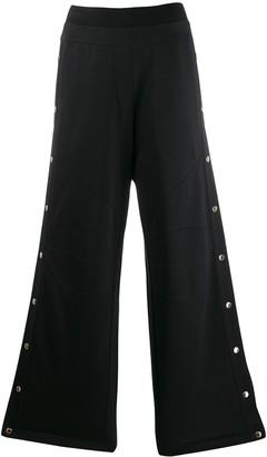 Balmain buttoned wide-leg sweatpants