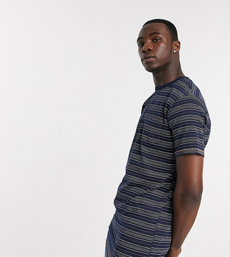 Duke Tall printed Stripe T-Shirt With Chest Pocket