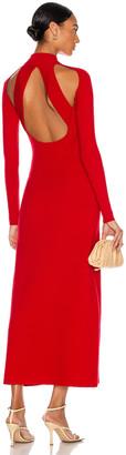 Victor Glemaud Long Sleeve Turtleneck Dress in Poppy | FWRD