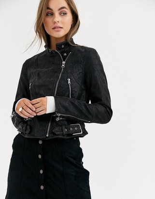 Free People Fenix faux leather biker jacket