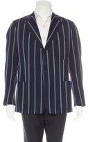 Ralph Lauren Purple Label Wool Striped Blazer