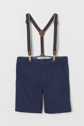 H&M Chino Shorts with Suspenders