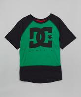 DC Turf Green 'DC' Raglan Tee - Boys