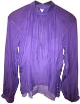 Jean Paul Gaultier Purple Silk Top for Women Vintage