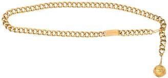 Charm & Chain Chanel Pre-Owned CC Logos medallion charm chain belt