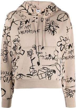 Kenzo Doodle-Print Hoodie