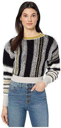 Free People Show Me Love Pullover (Black Combo) Women's Clothing
