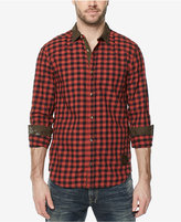 Buffalo David Bitton Men's Gingham Contrast-Trim Shirt