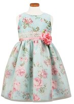 Sorbet Girl's Floral Print Shantung Dress