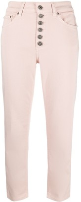 Dondup Mid-Rise Cropped Jeans