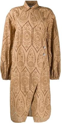 Ganni Lace Shirt Dress