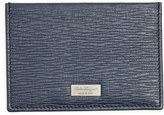 Salvatore Ferragamo Men's 'New Revival' Leather Card Case - Blue