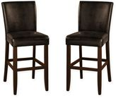 American Heritage Adrianna Stool in Brown (Set of 2)