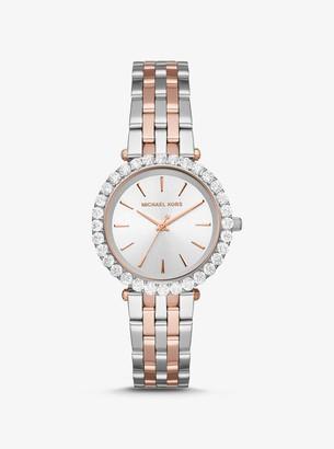 Michael Kors Darci Pave Two-Tone Watch