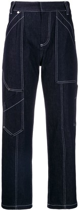 Chloé cropped cargo jeans