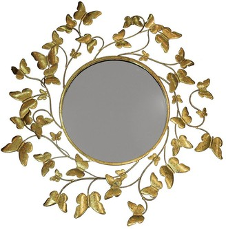 Arthouse Gold Metallic Butterflies Mirror
