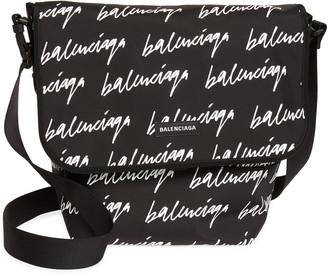 Balenciaga Explorer Logo Script Messenger Bag