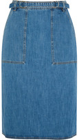 MiH Jeans Juno Belted Denim Skirt - small