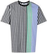 MSGM stripe checkered T-shirt - men - Cotton - 44