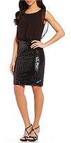 Calvin Klein Sequin Blouson Dress