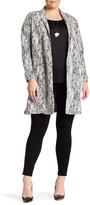 Bobeau Textured Topper Jacket (Plus Size)