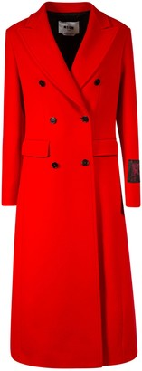 MSGM Double-breasted Long Coat