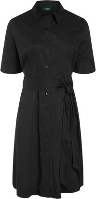 Ralph Lauren Belted Cotton-Blend Shirtdress