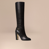 Burberry Knee-high Leather Boots