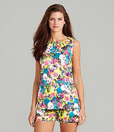 Gibson & Latimer Tropical Floral-Print Blouse