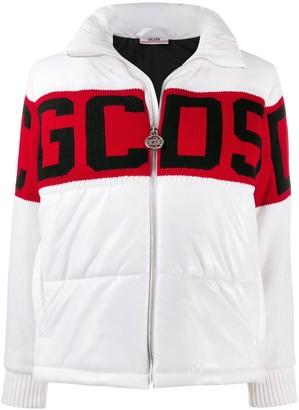 GCDS knitted logo puffer jacket