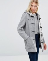 Gloverall Mid Original Duffle Coat in Silver