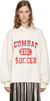MSGM White 'Combat Soccer XXXL' Hoodie