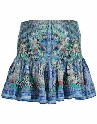 Camilla Wings Of Luxor Short Shirred Skirt