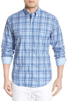 Tailorbyrd &Sequoia& Regular Fit Long Sleeve Plaid Sport Shirt (Big & Tall)