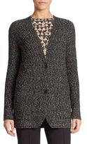 Akris Cotton Bouclé Knit Cardigan