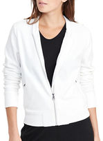 Lauren Ralph Lauren Velour Zip-Up Varsity Jacket